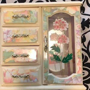 Jewelry - Jewelry Storage Armoire in Beautiful Floral Design